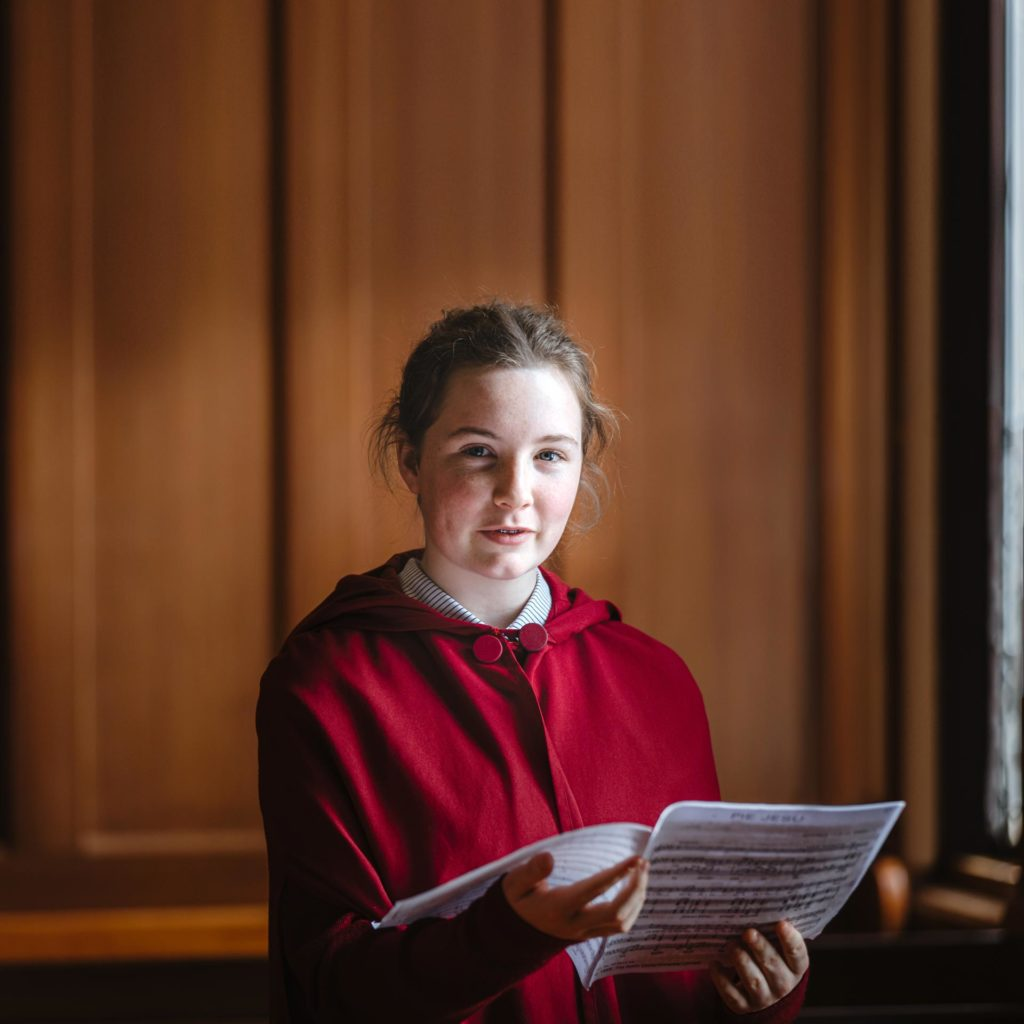 Katie, a student who attends Woodford House