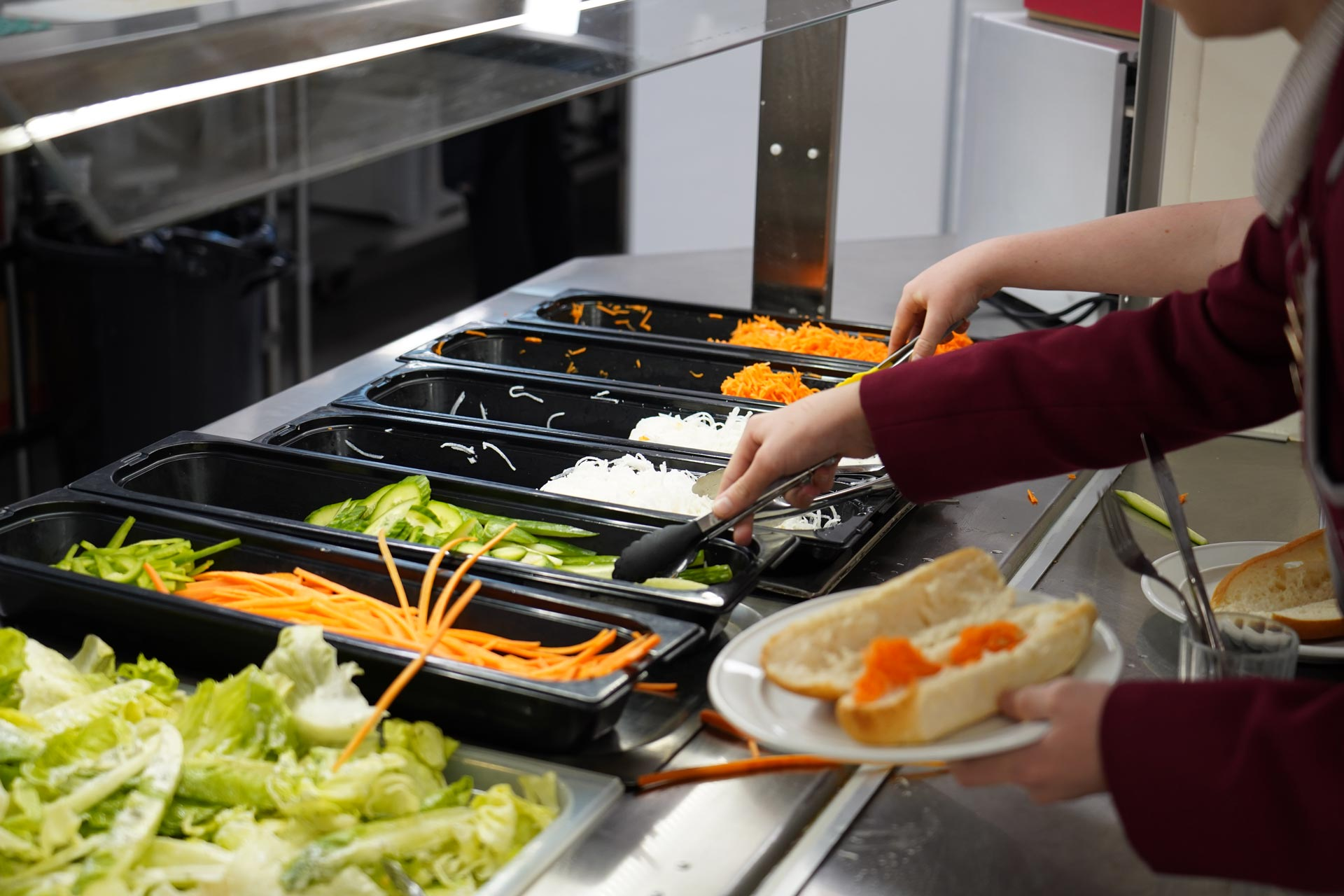 Fresh food being served to Woodford students