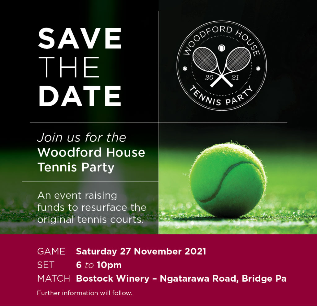 Woodford House Tennis Party Save the Date