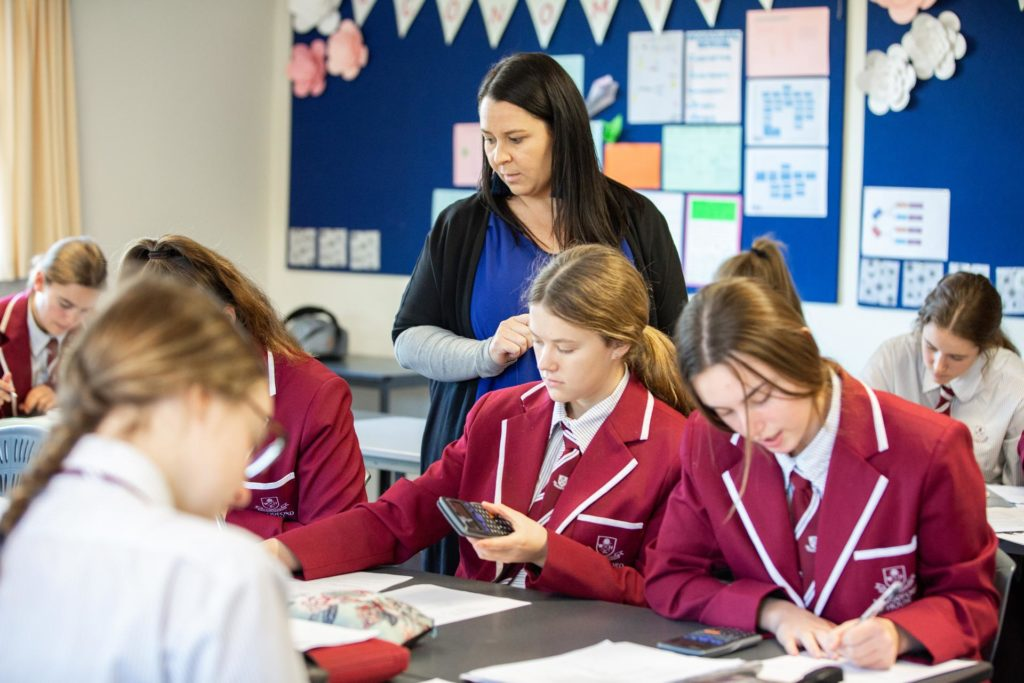 Woodford students studying maths